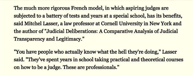 3. NY Times excerpt French judges know what they are doing SC cotin.org