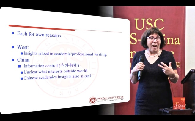 Professor Susan Finder speaking at the China Card conference 29 september 2016 screen shot COTIN.org