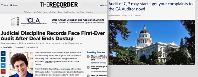 CJP v. CA State Auditor The Recorder + CPPA cotin.org