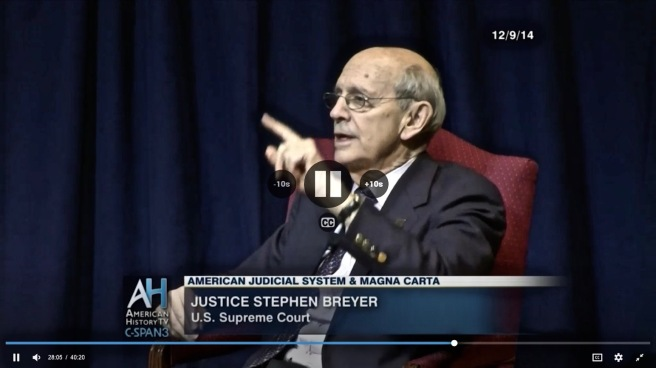 +Justice Stephen Breyer interview by David Rubenstein 9.12.2014 COTIN.org