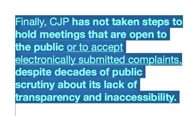 Clip 1 from the California Auditor's report on the Commission on Judicial Performance, 25 April 2019, COTIN.org