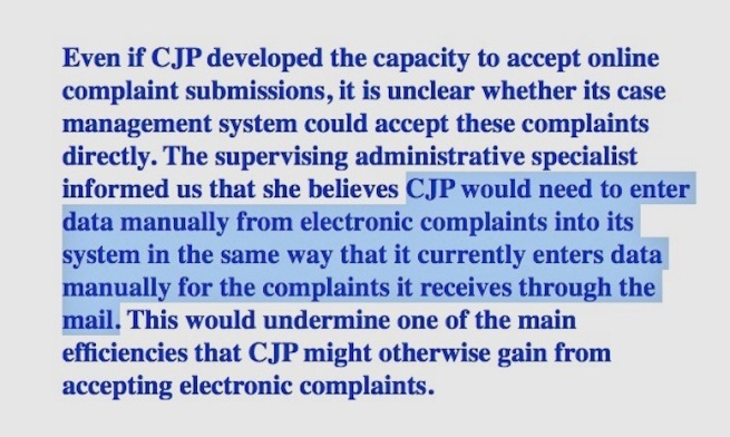 Clip 2 from the California Auditor's report on the Commission on Judicial Performance, 25 april 2019 COTIN.org